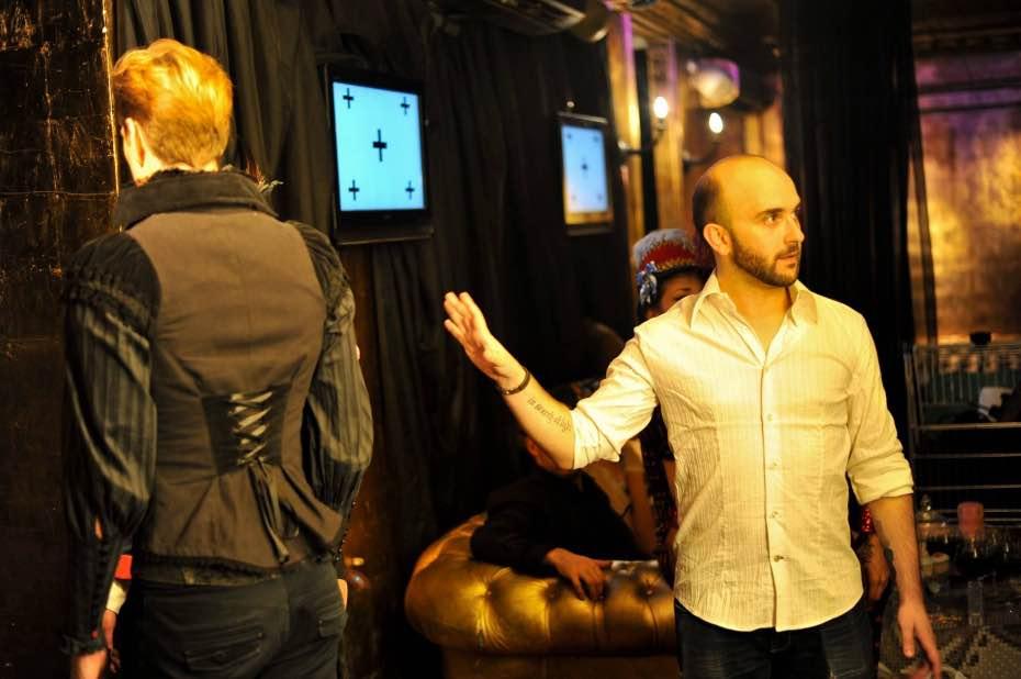 Miguel Ángel Font en un momento de la grabación de una de sus películas