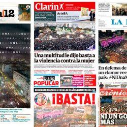 Ni una menos, Argentina, lucha, violencia machista, Red Libres, jupsin.com