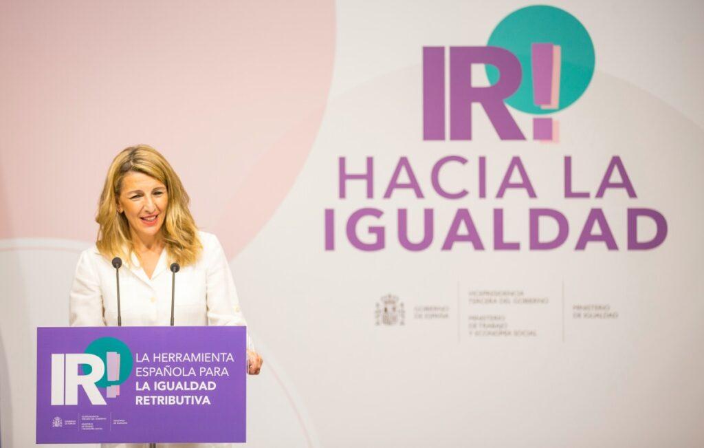 Igualdad salarias, IR!, Yolanda Díaz, jupsin.com