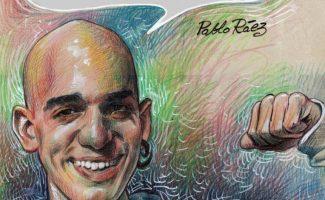 Poster homenaje a Pablo Raez en La Bombonera