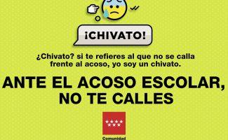 Campaña de la Comunidad de Madrid contra el acoso escolar