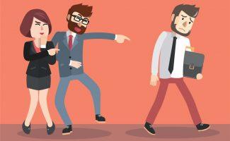 La negación en el acoso laboral