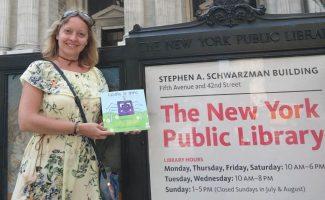 Raquel Sánchez, autora de 'Lasaña, la araña', en Nueva York