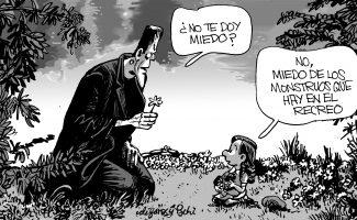 Frankenstein y la niña para jupsin
