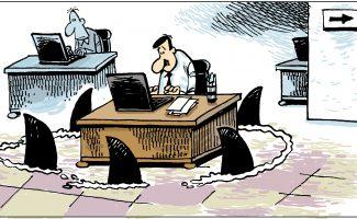 Viñeta sobre acoso laboral