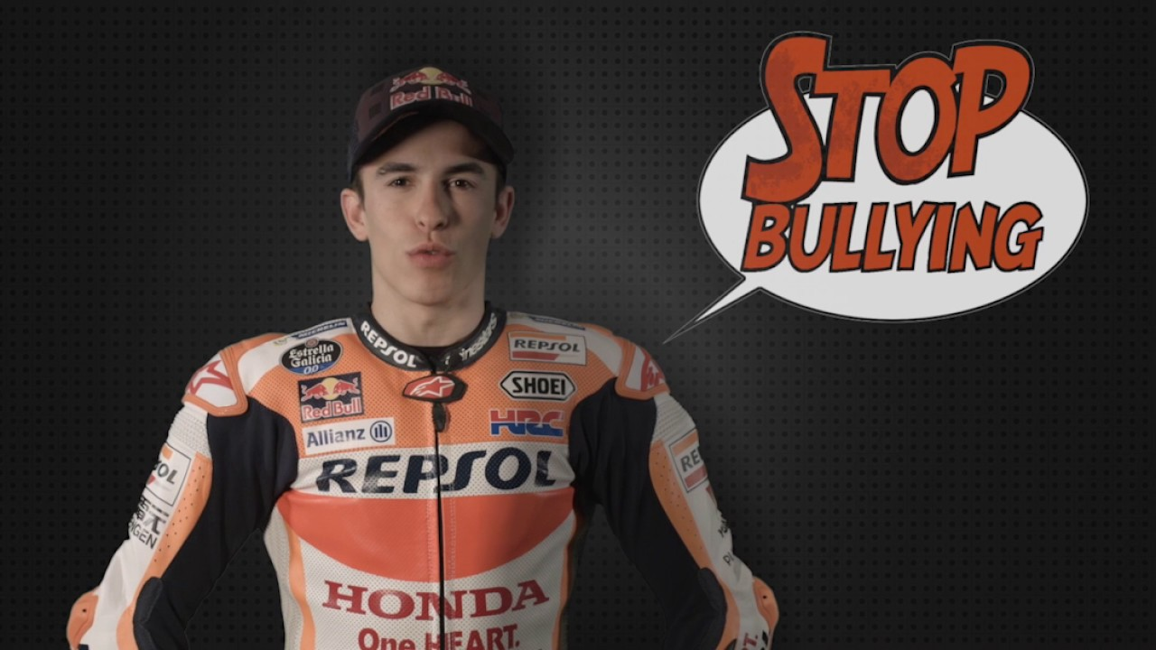 stop bullying - Repsol - Colegio Castilla - jupsin - acoso escolar - Marc Marquez